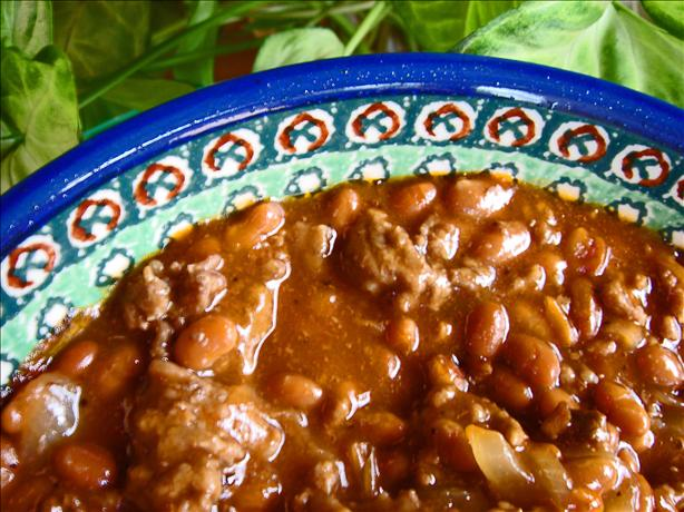 Barbecued Beefy Beans