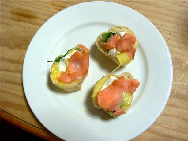 Brie Smoked Salmon Stackers