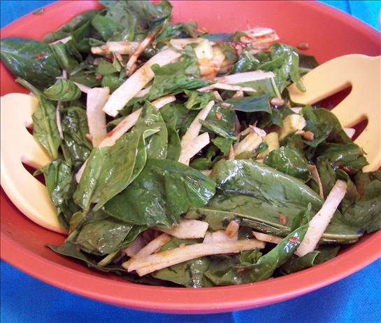 Spinach Salad With Chili Lime Dressing