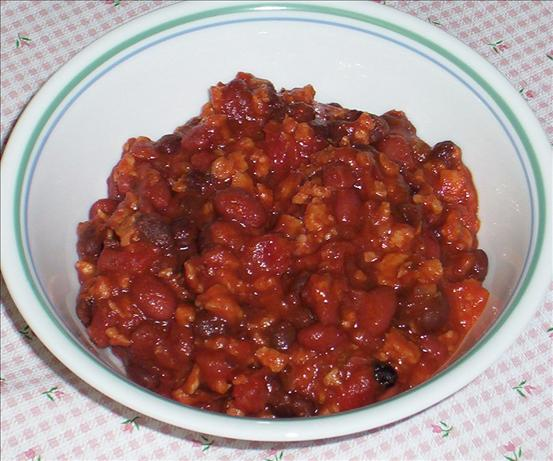 "Kree's Sweet and ""meaty"" Vegetarian Chili"