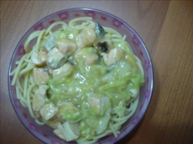 Miso Salmon Spaghetti