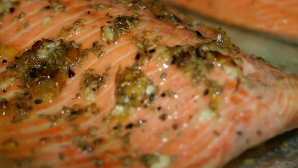 Broiled Steelhead Trout With Rosemary, Lemon and Garlic
