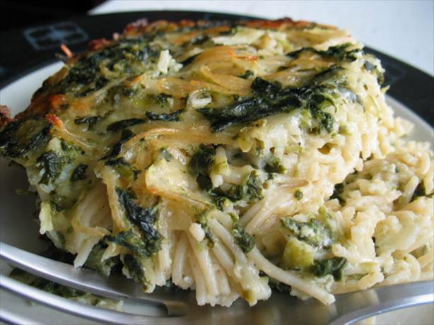 Spinach and Spaghetti Casserole