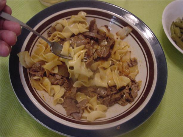 Solo Barbecue Beef in Pasta
