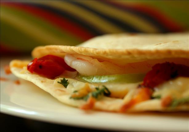 Shrimp and Tomatillo Quesadillas