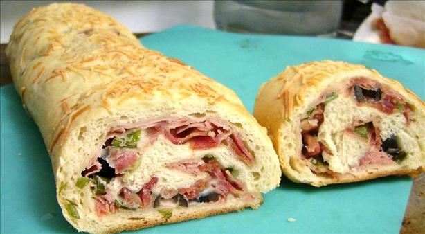 Kelly's Spiral Ham & Swiss Strombolis