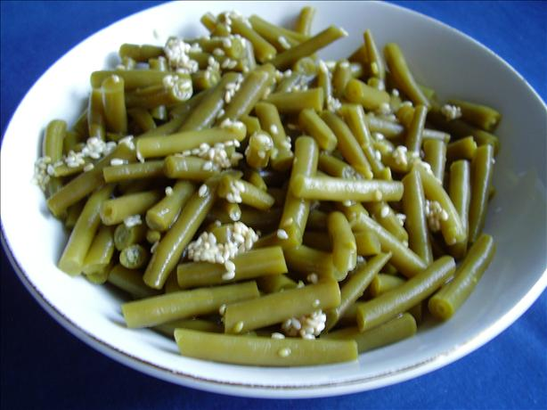 Green Beans With Sesame