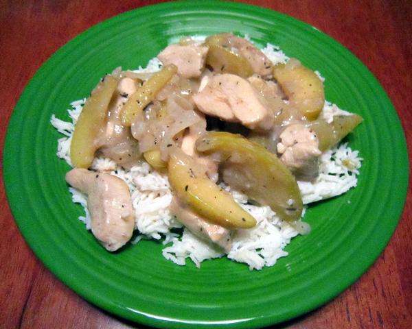Braised Chicken and Apples