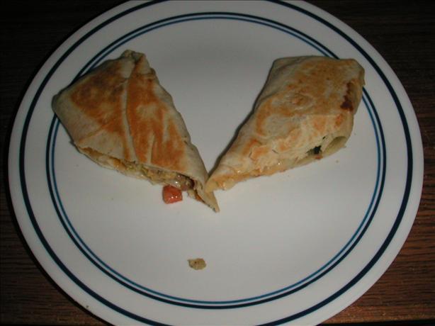 Chicken & Pepper Burritos