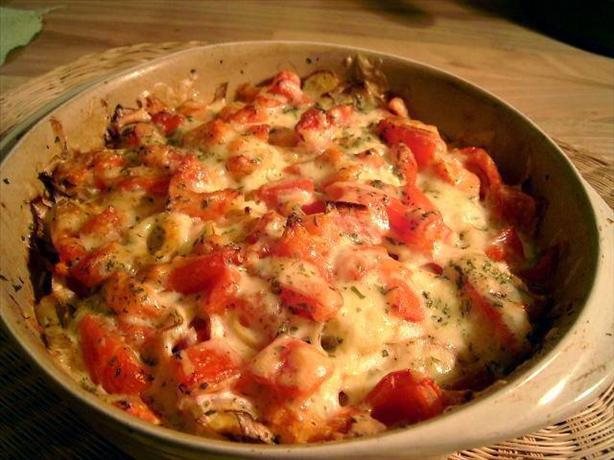 Baked Leek and Tomato