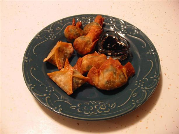 Spinach Wontons