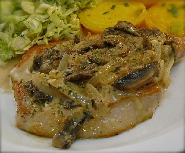 Schnitzel in Mushroom Sauce (Not Breaded)