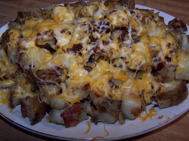 Brit's Cheesy Onion Home Fries