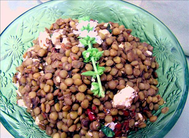 Roasted Pepper and Lentil Salad