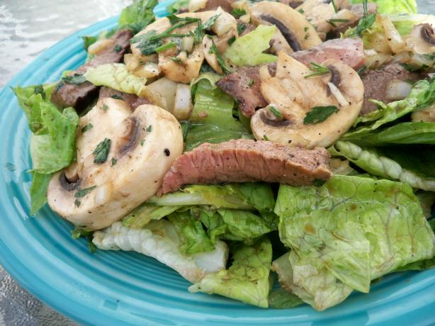 Steak and Mushroom Salad - Incredible and Simple!