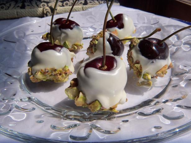 Chocolate Pistachio Cherries