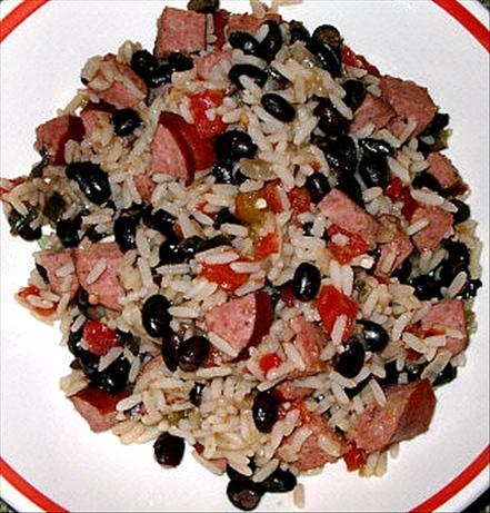 Black Beans, Sausage and Rice