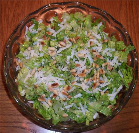 Shredded Romaine With Garlic Vinaigrette