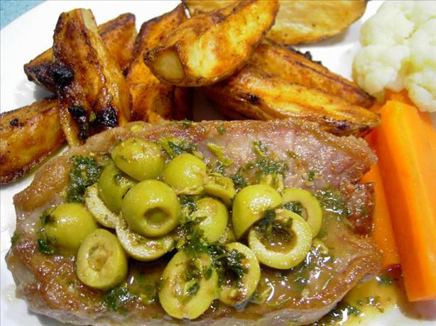 Lemon and Olive Veal Steaks