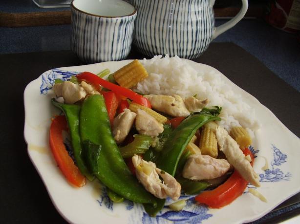 Chicken and Sugar Snap Stir-fry