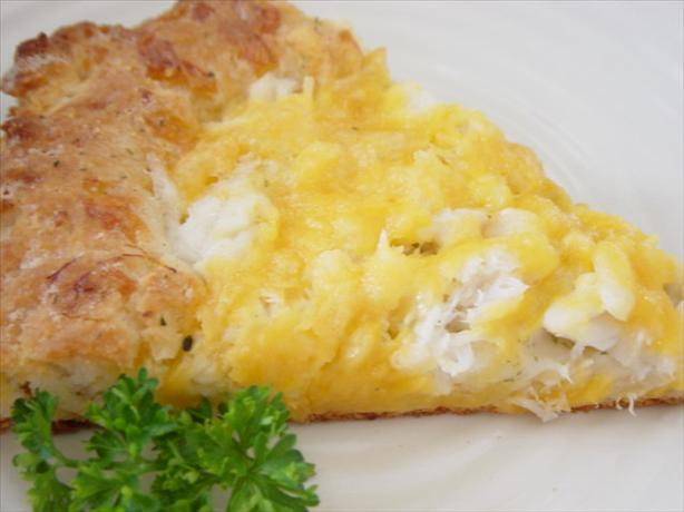 Cheddar Cheese Crab Bake