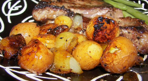 Balsamic Potatoes and Onions
