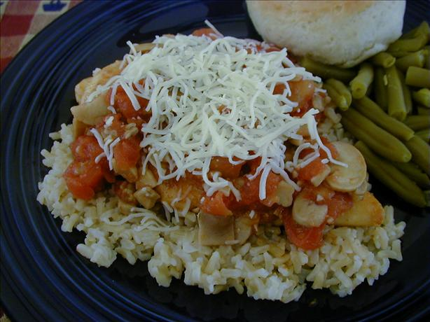 Chicken With Tomatoes & Mushrooms