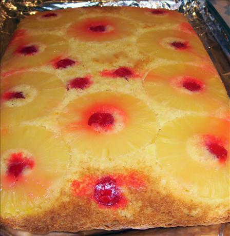 Upside Down Pina Colada Cake
