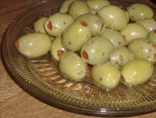 2 Day Herb Marinated Pimiento Stuffed Olives