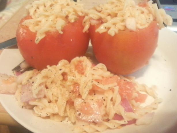 Pasta Stuffed Tomatoes