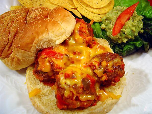 Picante Meatball Sandwiches