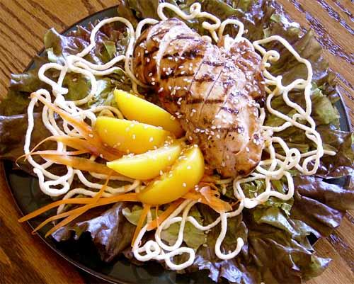 Peach Chicken Spring Salad
