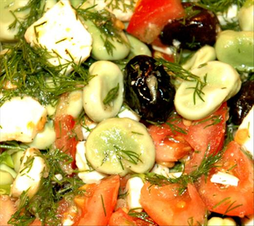 Broad Bean, Dill and Feta Salad