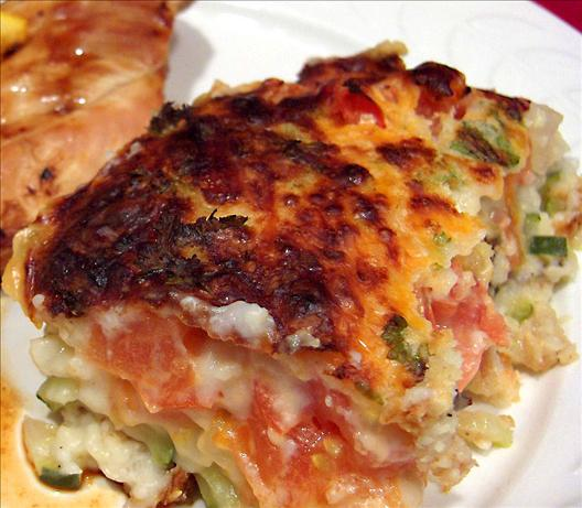 Impossible Zucchini-tomato Cheese Pie