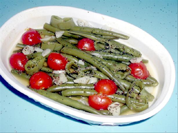 Green Bean, Tomato & Anaheim Peppers