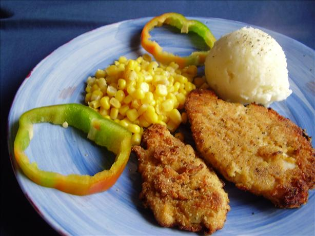 Mustard/parm Fried Chicken Breasts