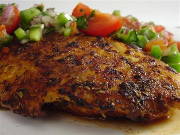 Blackened Catfish With Salsa Fresca With Cilantro