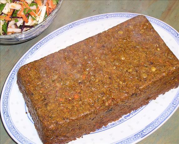 Lentil-carrot Loaf