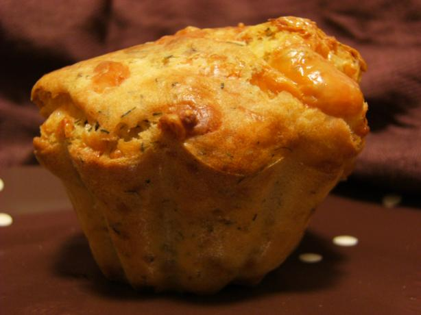 Oversized Cheese and Dill Muffins