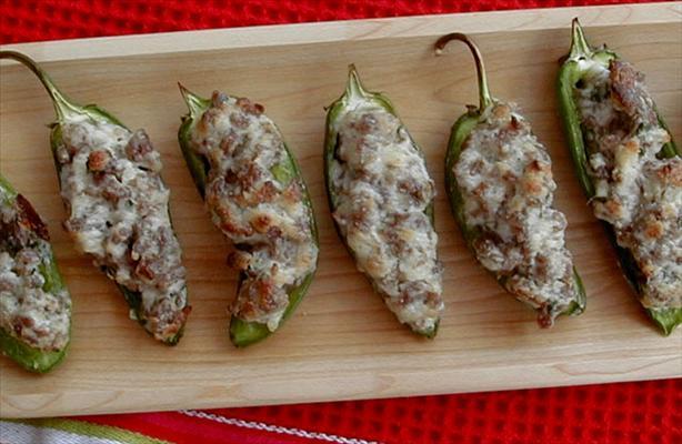 Sausage-stuffed Jalapenos