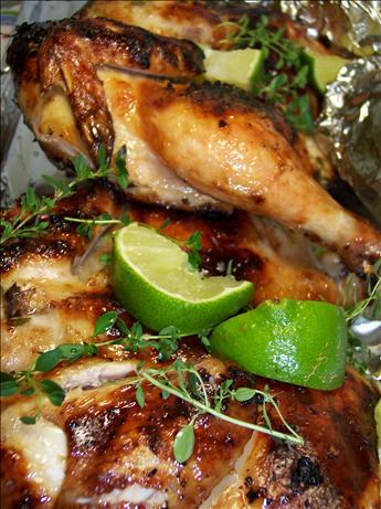 Flattened Cornish Game Hens With Garlic-citrus Marinade