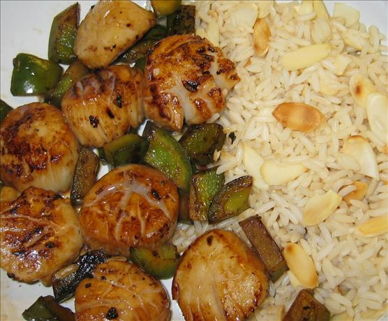 Orange Almond Scallops