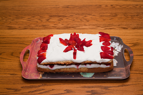 Canada Day Flag Cake