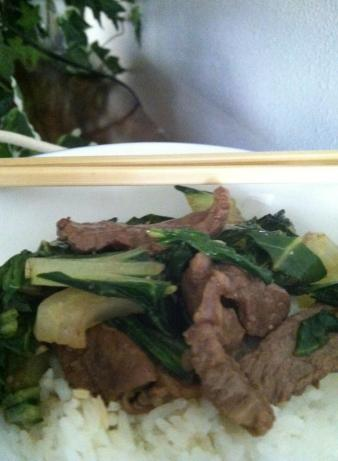 Mongolian Beef and Bok Choy