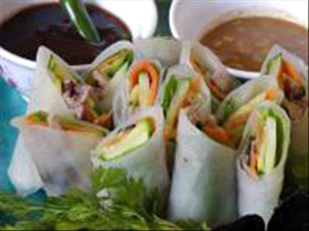 Duck Spring Rolls With Dipping Sauces