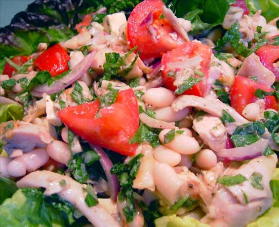 Roasted Chicken and Cannellini Bean Salad