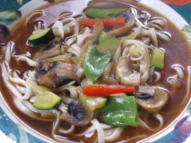 Buckwheat Noodles and Oriental Style Soup