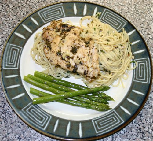 Italian Chicken With New Orleans Spaghetti Bordelaise