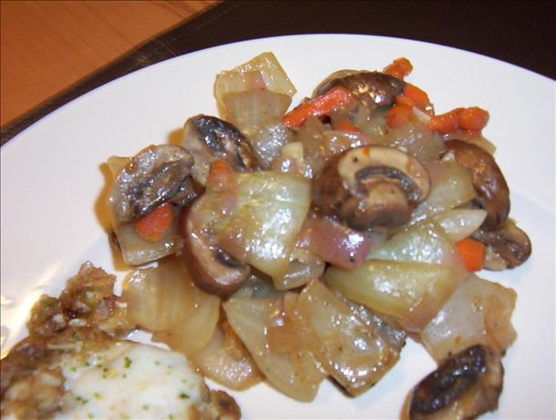 My Best Steak Side Dish With Vidalias, Shallots, Portabellas