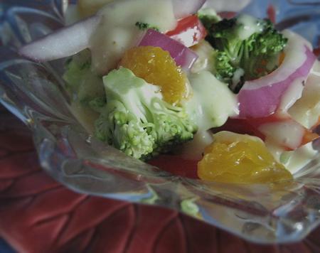 Broccoli With Sweet Onion Vinaigrette